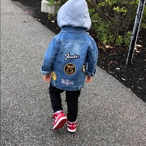 Other - NWT Kids Rock Patch Slayer Denim Jean Jacket 3T